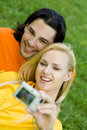 Couples prenant la photo Images libres de droits