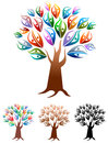Couples tree illustrated design with isolated white background Stock Photography
