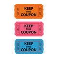 Coupon Illustration Stock Photos