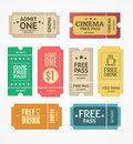 Coupon and Tickets Set. Vector Royalty Free Stock Photo