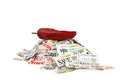 Coupons With Red Hot Pepper Royalty Free Stock Photo