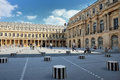 The cour inside the Royal Palace in Paris Stock Image