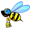 Courier bee or wasp Stock Image