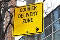 Courier deliver zone