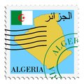 Courrier to/from l'Algérie Images stock