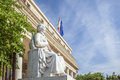 Court of appeal with statue in aix en provence city Stock Images