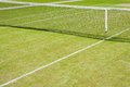 Court de tennis d herbe Photographie stock libre de droits