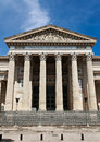 Court of nîmes façade and columns Royalty Free Stock Photo