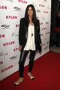 Courteney semel arriving at the nylon magazine th anniversary issue party los angeles mar tru hollywood on march in los angeles Royalty Free Stock Images