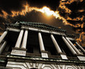 Courthouse dramatic at dusk scene Royalty Free Stock Photography