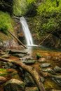 Courthouse falls off the blue ridge parkway just on hwy in north carolina transylvania county some days start with a goal but Royalty Free Stock Photo