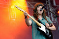 Courtney Barnett (singer and electric guitar player) in concert at Heineken Primavera Sound 2014 Royalty Free Stock Photo