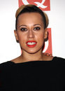 Courtney rumbold of stooshe arriving for the q awards held at the grosvenor hotel london picture by henry harris featureflash Stock Photo