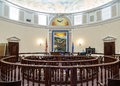 Courtroom, Pershing County, Nevada courthouse Royalty Free Stock Photo