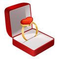 Courtship ring Royalty Free Stock Photo