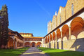 Courtyard of basilica Santa Croce in Florence, Italia Royalty Free Stock Photo