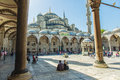 Courtyard of Blue Mosque Sultanahmet Royalty Free Stock Photo