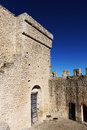 Courtyard of a castle of middle ages Royalty Free Stock Photo