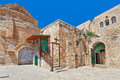 Courtyard of Coptic Ortodox Church in Jerusalem. Royalty Free Stock Photo