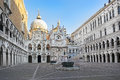 Courtyard of the Doges Palace, Venice, Italy Royalty Free Stock Photo