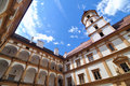 Courtyard of Eggenberg Castle in Graz Stock Photo