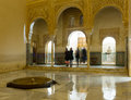 Courtyard of Gold Room   at Comares Palace, Alhambra Royalty Free Stock Photo