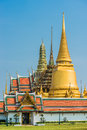 Courtyard grand palace Wat Phra Kaew Bangkok Thailand Royalty Free Stock Photo