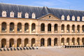 Courtyard of Hotel des Invalides Stock Image