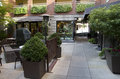 Courtyard of a hotel inn at pike place market seattle has nice Royalty Free Stock Images