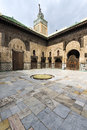 Courtyard in the Madrasa Bou Inania, in Fez, Morocco