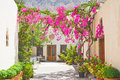Courtyard at Mesa Gonia. Royalty Free Stock Photo