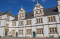 Courtyard of the Neuhaus castle in Paderborn Royalty Free Stock Photo