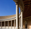 Courtyard of the Palace of Charles V in Granada Royalty Free Stock Photo