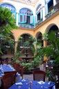 Courtyard restaurant Royalty Free Stock Photo