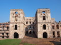 The courtyard of the ruined krzyå topor fortified palace ujazd poland Stock Images