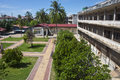 Courtyard of tuol sleng s prison phnom penh cambodia Stock Photos