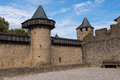 Courtyard the walled at carcassonne Royalty Free Stock Photography