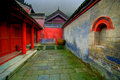 Courtyard in Wudang temple Stock Images