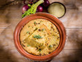 Couscous cake with onions Royalty Free Stock Photo