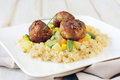 Couscous and meat Royalty Free Stock Photo