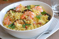 Couscous with prawns Stock Images