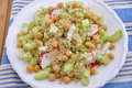 Couscous salad with chickpeas and radish Royalty Free Stock Photo