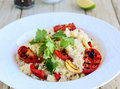 Couscous salad with fish Royalty Free Stock Photo