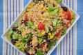 Couscous salad with tomatoes beans and corn Stock Image
