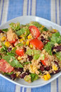 Couscous salad with tomatoes beans and corn Stock Images