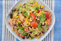 Couscous salad with tomatoes beans and corn Royalty Free Stock Photo
