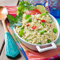 Couscous and vegetables vegetable vegetarian meal Royalty Free Stock Images
