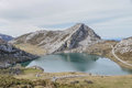 Covadonga lakes enol lake of spain Stock Image