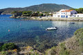 Cove in a Mediterranean village of Costa Brava Stock Photo