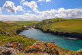 Cove at Port Quin, Cornwall, England Royalty Free Stock Images